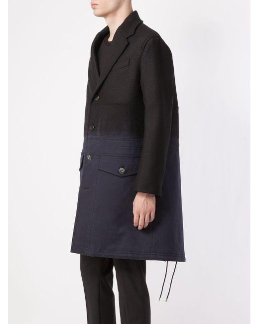 Пальто С Градиентным Эффектом Neil Barrett                                                                                                              чёрный цвет