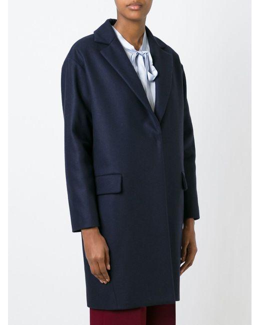 Однобортное Пальто L' Autre Chose                                                                                                              синий цвет