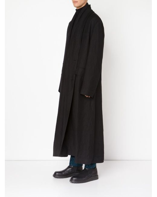 Удлиненное Пальто Haider Ackermann                                                                                                              чёрный цвет