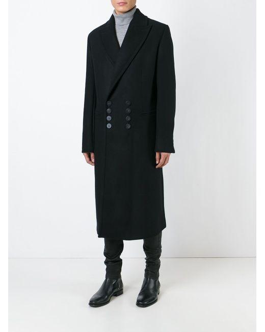 Long Coat Ann Demeulemeester                                                                                                              чёрный цвет