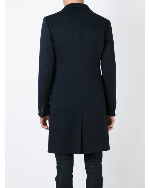 Однобортное Пальто Giorgio Armani                                                                                                              синий цвет