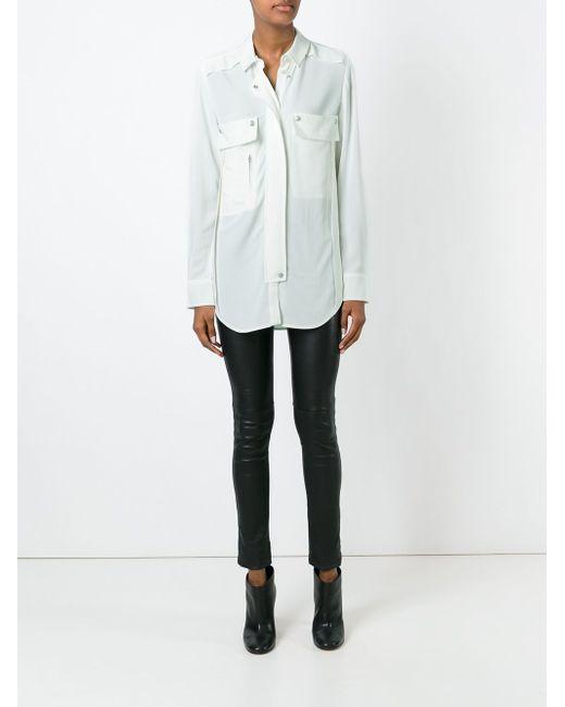 Рубашка С Накладными Карманами Iro                                                                                                              Nude & Neutrals цвет