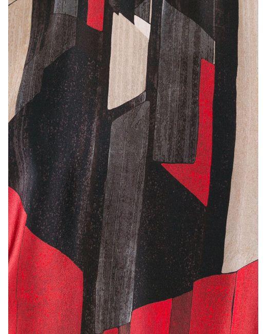 Свитер С Геометрическим Принтом Salvatore Ferragamo                                                                                                              красный цвет