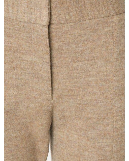Расклешенные Ворсистые Брюки ROSETTA GETTY                                                                                                              коричневый цвет
