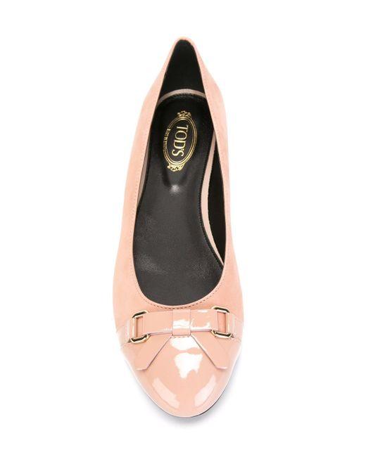 Балетки С Контрастными Носками Tod'S                                                                                                              розовый цвет