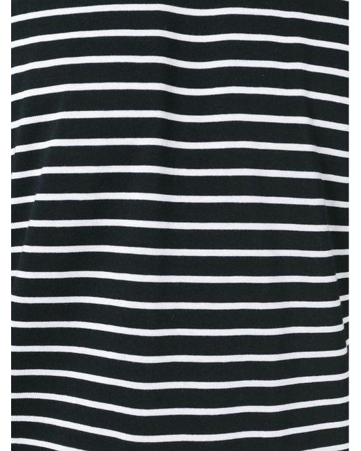 Striped T-Shirt Saint Laurent                                                                                                              чёрный цвет