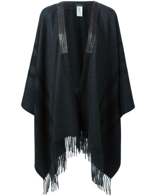 Пончо С Бахромой Etro                                                                                                              серый цвет