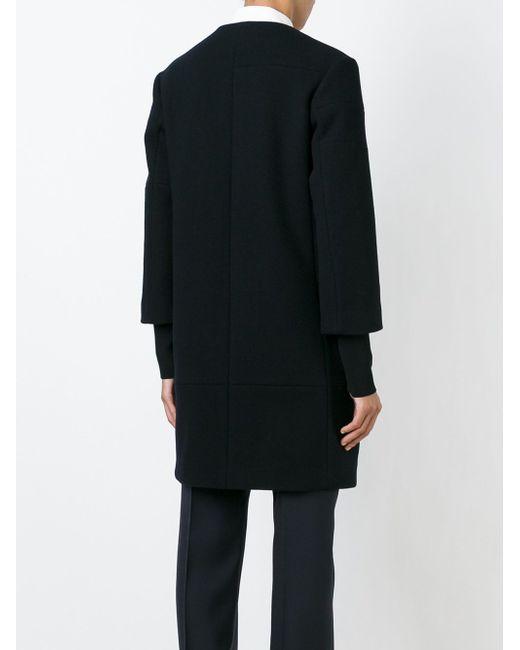 Однобортное Пальто Jil Sander                                                                                                              чёрный цвет