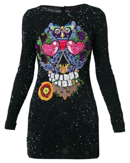 Платье С Аппликацией Manish Arora                                                                                                              чёрный цвет