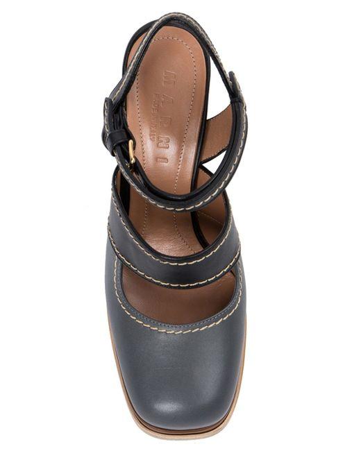 Туфли С Ремешками Marni                                                                                                              синий цвет