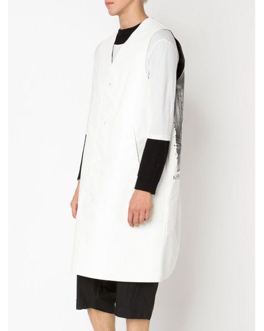 Пальто Без Рукавов COMME DES GARCONS HOMME PLUS                                                                                                              белый цвет