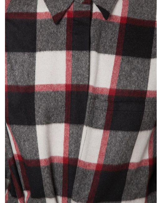 Фланелевая Рубашка В Клетку 3.1 Phillip Lim                                                                                                              чёрный цвет