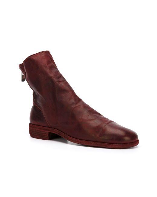 Zip Up Boots GUIDI                                                                                                              красный цвет