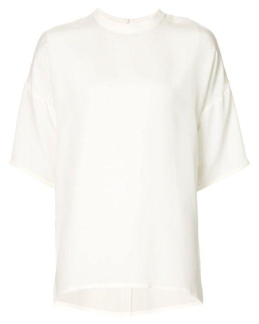 Oversized Short Sleeve Top Cedric Charlier                                                                                                              белый цвет