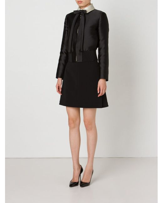 Укороченная Куртка Valentino                                                                                                              чёрный цвет