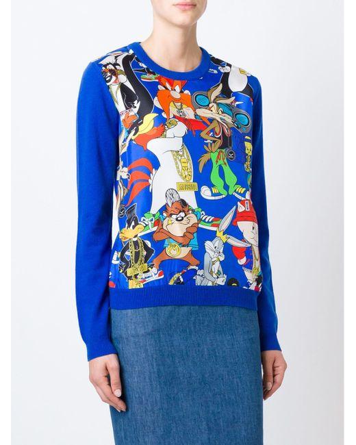 Свитер Looney Tunes Moschino                                                                                                              синий цвет