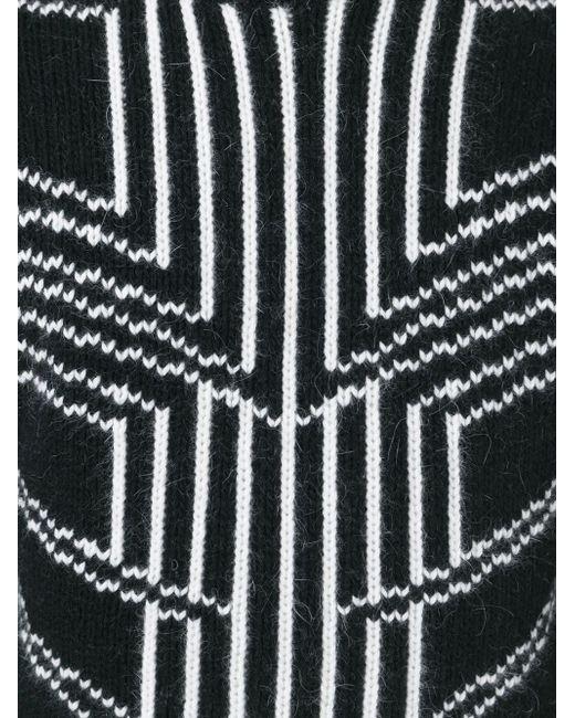 Intarsia Geometric Sweater Les Hommes                                                                                                              чёрный цвет