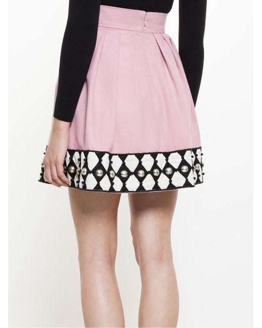 Embroidered Mini Skirt Olympia Le-Tan                                                                                                              None цвет