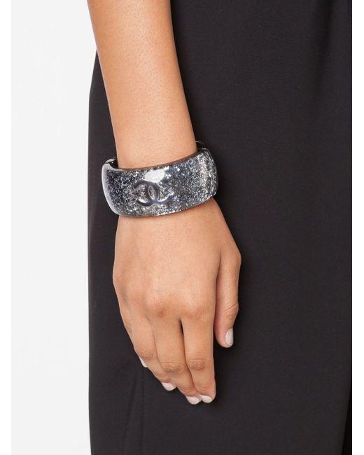 Кафф С Блестящей Отделкой Chanel Vintage                                                                                                              серый цвет