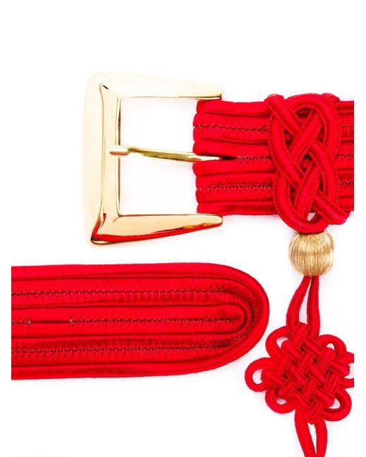 Ремень С Кисточкой Saint Laurent                                                                                                              красный цвет