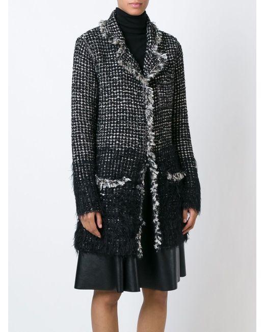 Твидовое Пальто Lanvin                                                                                                              чёрный цвет