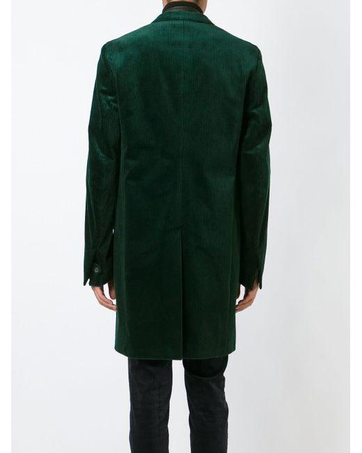 Вельветовое Двубортное Пальто Haider Ackermann                                                                                                              зелёный цвет