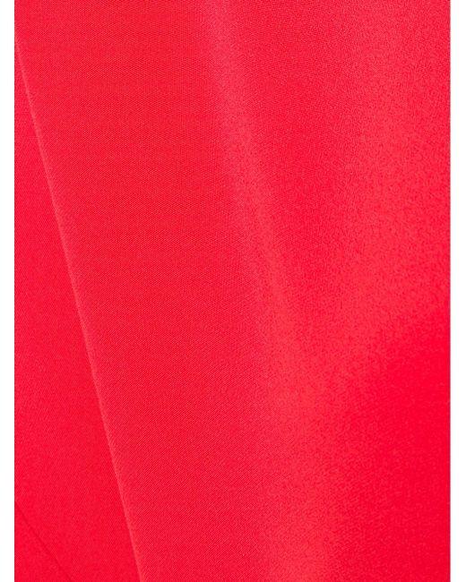 Асимметричное Шелковое Платье Zero + Maria Cornejo                                                                                                              красный цвет