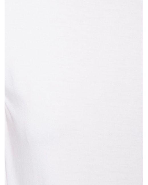 Футболка С Круглым Вырезом MAJESTIC FILATURES                                                                                                              белый цвет