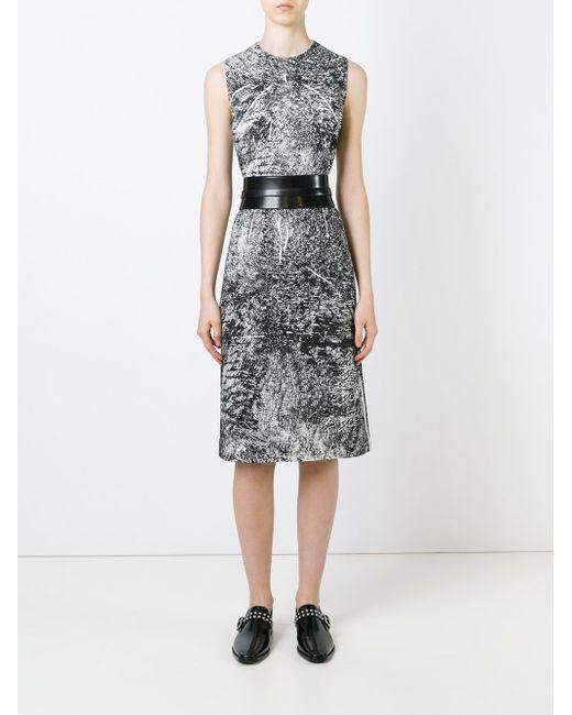 Trompe Loeil Print Dress Mcq Alexander Mcqueen                                                                                                              чёрный цвет