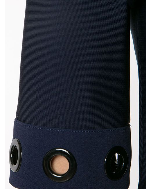 Cropped Eyelet Top Mugler                                                                                                              синий цвет