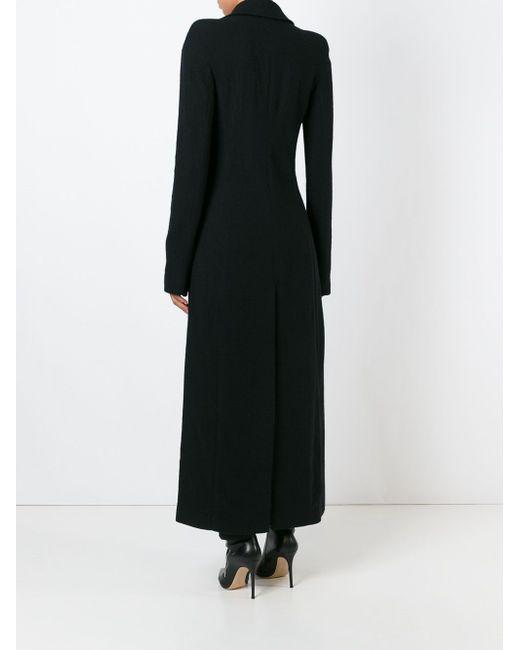 Приталенное Пальто С Разрезом Haider Ackermann                                                                                                              чёрный цвет