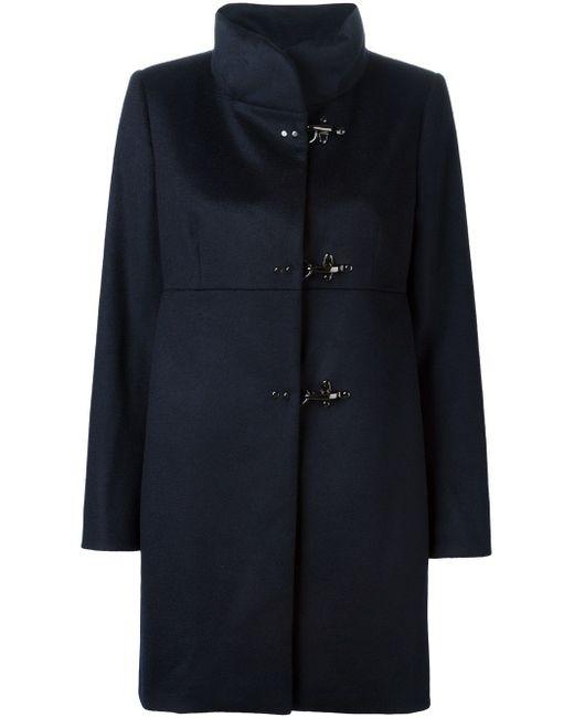 Пальто С Воротником-Стойкой Fay                                                                                                              синий цвет