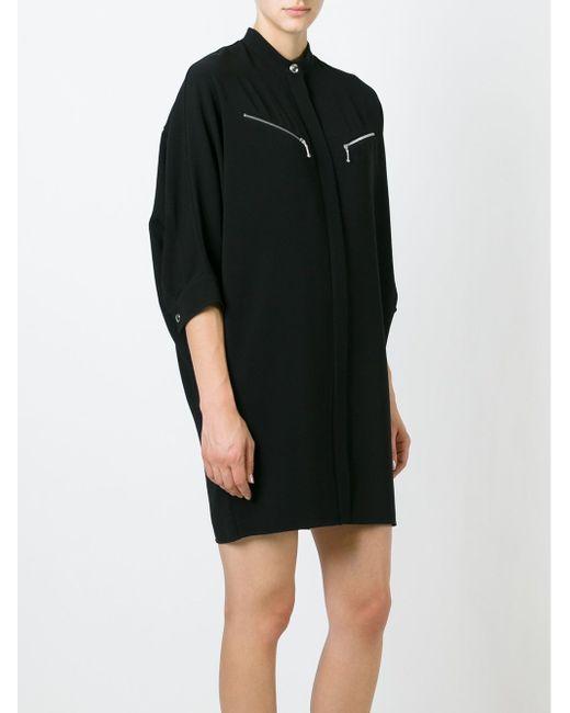 Band Collar Shirt Dress Alexander Wang                                                                                                              чёрный цвет