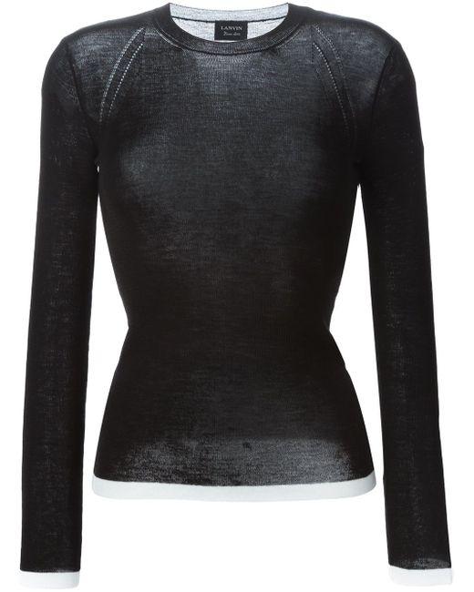 Облегающий Свитер Lanvin                                                                                                              чёрный цвет