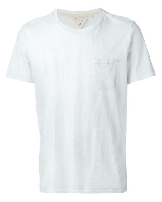 Футболка С Нагрудным Карманом Rag & Bone                                                                                                              белый цвет