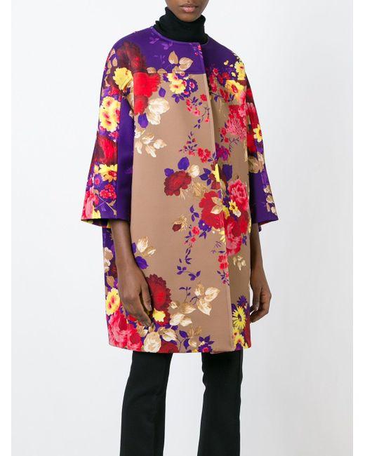 Пальто-Кокон С Цветочным Принтом Antonio Marras                                                                                                              Nude & Neutrals цвет