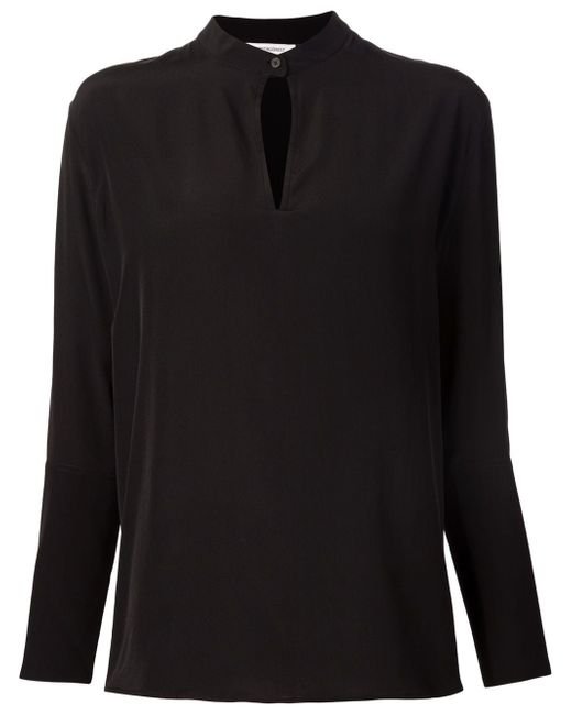 Блузка С Вырезом Замочная Скважина PROTAGONIST                                                                                                              чёрный цвет