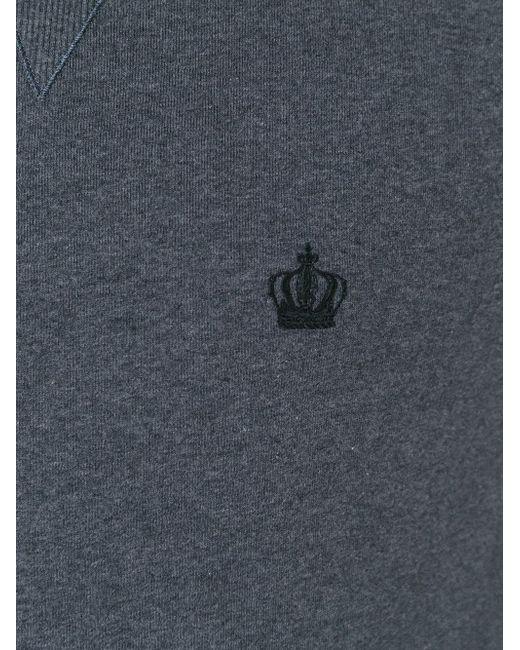 Свитер С Вышитой Короной Dolce & Gabbana                                                                                                              серый цвет