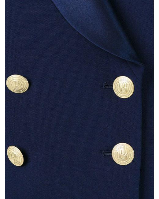 Двубортный Блейзер Pierre Balmain                                                                                                              синий цвет