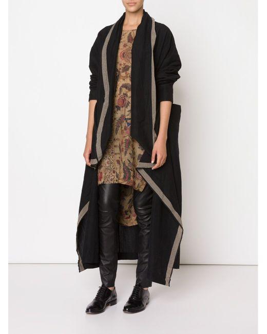 Драпированное Пальто UMA WANG                                                                                                              чёрный цвет