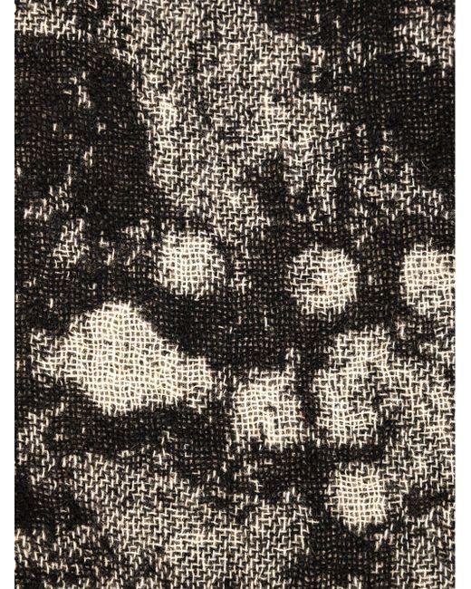Шарф С Абстрактным Рисунком UMA WANG                                                                                                              чёрный цвет