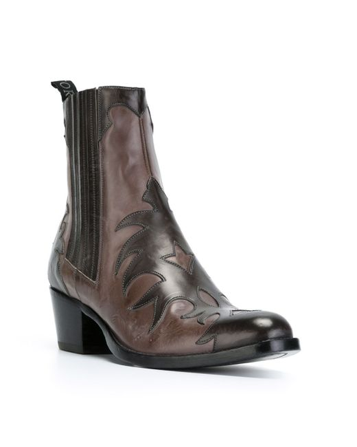 Ботинки В Стиле Вестерн Sartore                                                                                                              серый цвет