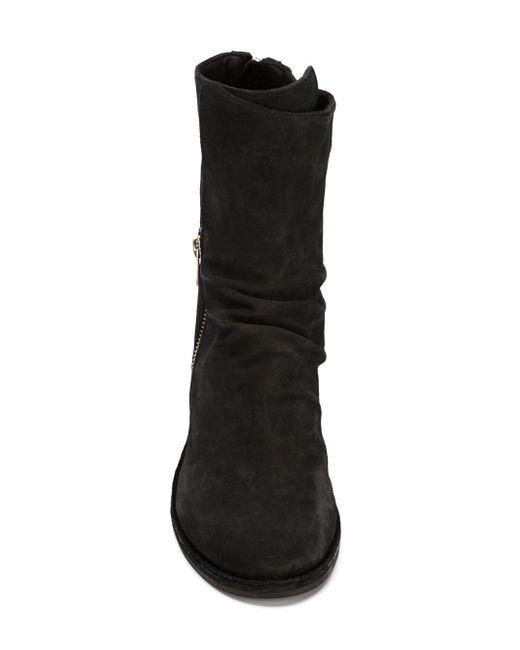 Ботинки Varda На Массивном Каблуке Officine Creative                                                                                                              чёрный цвет