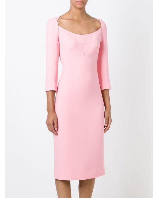 Платье С Глубоким Вырезом Dolce & Gabbana                                                                                                              розовый цвет