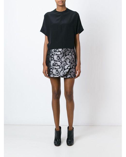 Paisley Jacquard Mini Skirt Stella Mccartney                                                                                                              чёрный цвет