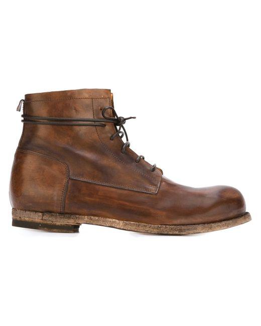 Ботинки На Шнуровке Officine Creative                                                                                                              коричневый цвет