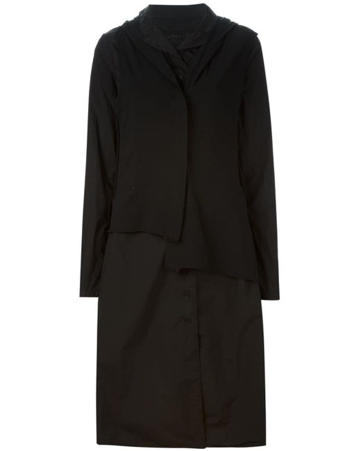 Hooded Shirt Dress Rundholz                                                                                                              чёрный цвет