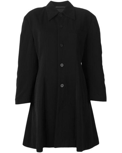 Пальто На Пуговицах Comme Des Garcons                                                                                                              чёрный цвет