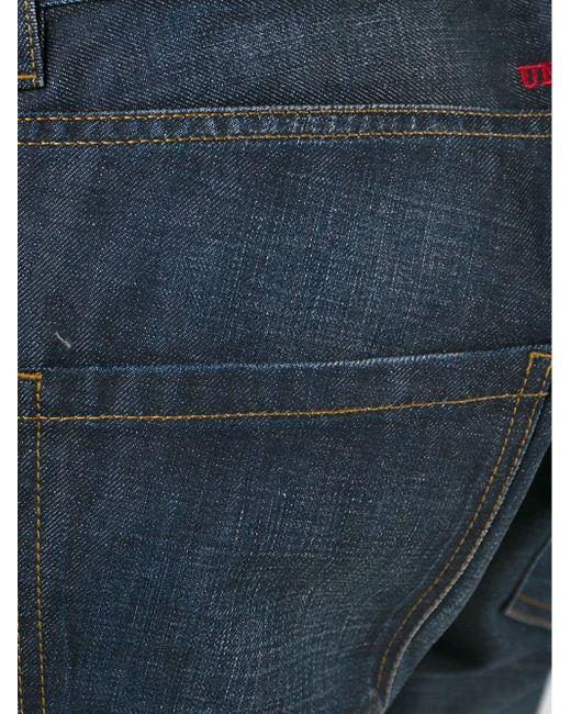 Джинсы Кроя Слим С Потертой Отделкой Philipp Plein                                                                                                              синий цвет