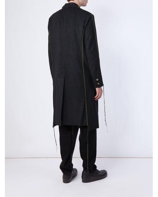 Пальто С Видными Швами MIHARA YASUHIRO                                                                                                              чёрный цвет